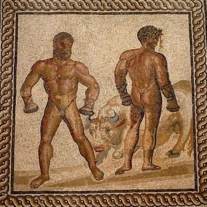 Roman mosaic of boxers –Health and Fitness History