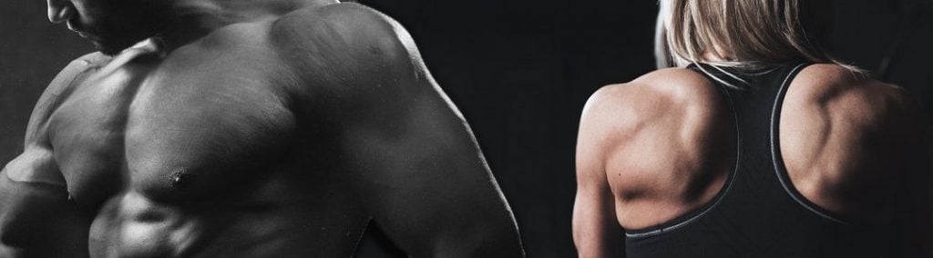 Muscular man and woman